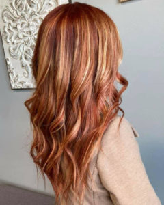 strawberry blonde copper hair color sioux falls