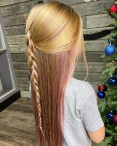peekaboo pink hair color sioux falls