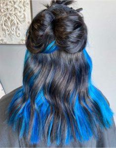 blue hair 605 styling co hair salon sioux falls