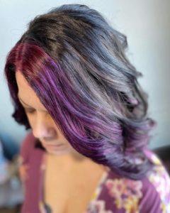 purple hair 605 styling co hair salon sioux falls