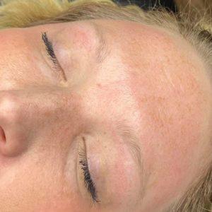 microblading eyebrow before