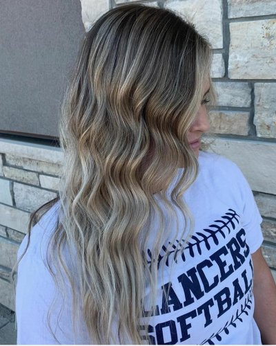blonde balayage hair color 605 styling co sioux falls