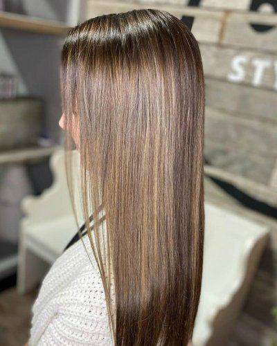 brunette highlights hair color 605 styling co sioux falls