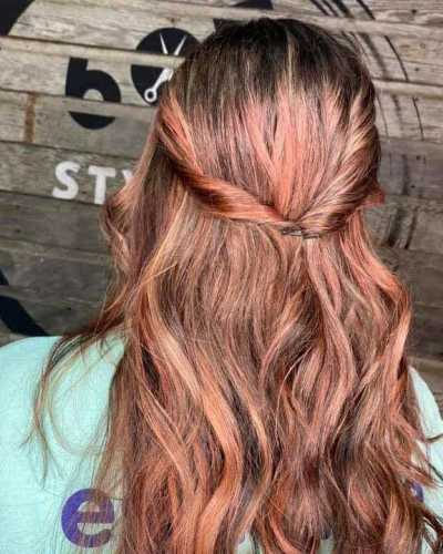 half upstyle with twist or braids 605 styling co sioux falls